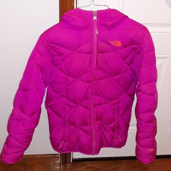 3904f4760 Girls large winter northface reversible coat